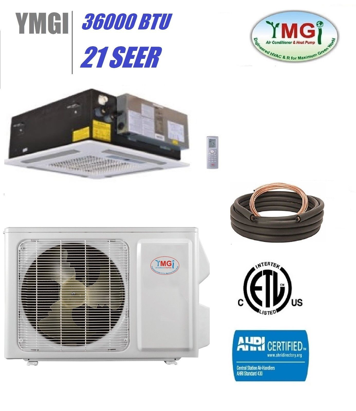 Ymgi 36000 Btu 21 Seer Ductless Mini Split Air Conditioner Heat Pump